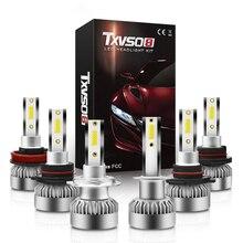 H7 2Pcs מיני H7 H1 H8 H9 H11 9005 9006 9012 רכב LED פנס COB נורות 6000K 20000LM 110W רכב LED פנסי סטיילינג
