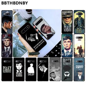 Peaky Blinders mężczyźni Tv Tommy Shelby luksusowe telefon pokrywa dla Samsung S6 S7 krawędzi S8 S9 S10 e plus A10 A50 A70 note8 J7 2017 tanie i dobre opinie BBTHBDNBY CN (pochodzenie) Częściowo przysłonięte etui Soft Transparent Phone Case Galaxy s6 Galaxy J Series Galaxy S7