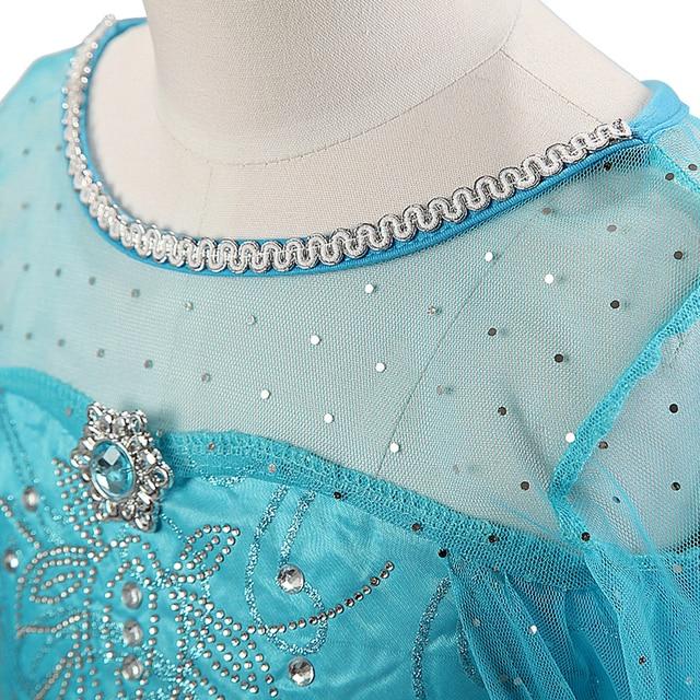 2020 Elsa sukienki dla dziewczynek księżniczka Anna Elsa kostiumy Party Cosplay Elza Vestidos zestaw akcesoriów do włosów dla dzieci odzież dla dziewczynek