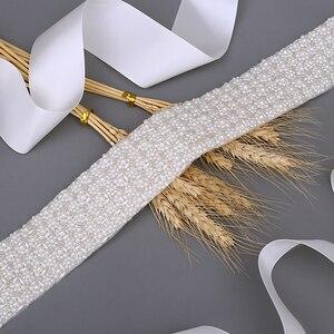 Image 3 - TRiXY S20 בעבודת יד פניני אבנט חגורת חרוזים חתונה חגורות יוקרה פניני חגורת אבנט חתונה כלה חגורת אבנט חרוזים חגורת כלה