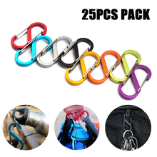 Buy 25PCS PACK Locking Key Holder S-Biner Slidelock Dual Carabiner Key Holder Aluminum Carabiners Clips Climbing Keychain Hiking directly from merchant!