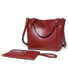 Nowy damski lśniący połysk skórzana torba retro pojemna torba tanie tanio VUGSUCE Torby na ramię Na ramię i torebki CN (pochodzenie) Wiadro WOMEN zipper SOFT Stałe Otwarta kieszeń Pojedyncze