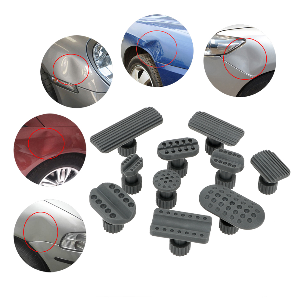 Dent Puller Suction Cup Car Repair Tool 10pcs/set  Automobile Sheet Metal Repair Gaskets Plastic Gasket Dent Removal Gaskets