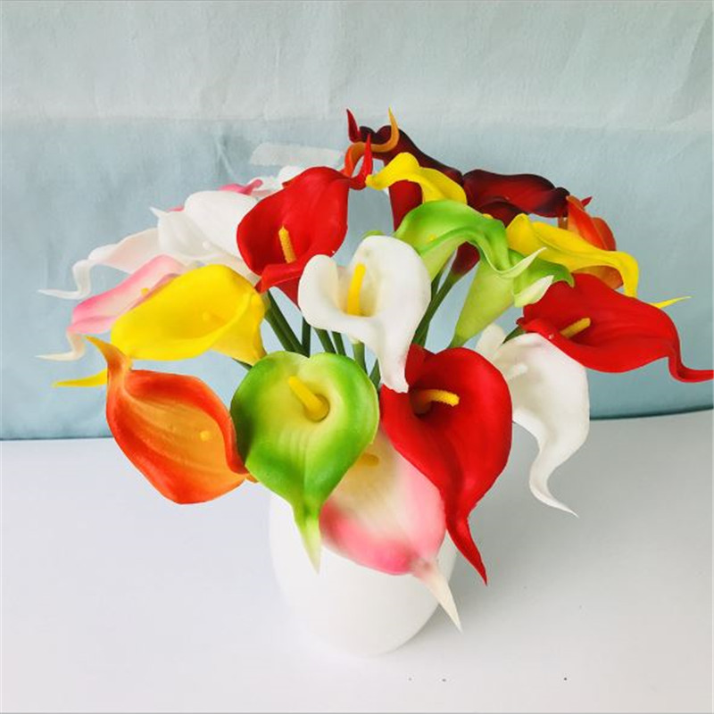1PC PU Mini Tulips Artificial Flowers For Home And Wedding Decoration Flowers 31