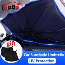 Parasol para coche, cubiertas de sombra UV, parabrisas, Protector frontal, accesorios para coche