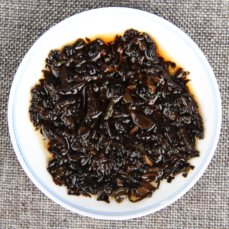 100g/jar The Oldest Pu'er Tea Chinese Yunnan Glutinous Rice Ripe Tea Green Food for Health Care Weight Lose 4