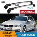 2 Pcs Dach Bars für BMW 3 Serie Station Wagon 2011-2019 F31 Aluminium Legierung Seite Bars Kreuz Schienen dach Rack Gepäck Träger