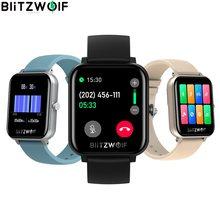 [llamada bluetooth] BlitzWolf BW-GTC reloj inteligente monitor de frecuencia cardíaca reloj caras de la pantalla de la pantalla de la música control 2020 para los hombres mujeres Android banda monitor de presión