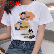 Camiseta dos desenhos animados de karasuno kawaii voar alta camiseta masculina anime japonês oya oya haikyuu t camisa masculina