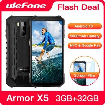Купить Ulefone Armor X5 смартфон с восьмиядерным процессором NFC IP68, ОЗУ 3 ГБ, ПЗУ 32 ГБ, 5000 мАч, 4G LTE, водонепроницаемый мобильный телефон