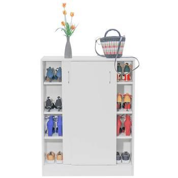Household Shoe Cabinet Door Storage Shoe Rack Multi-Layer Simple Economic Type Rack Solid Wood Dormitory Dustproof