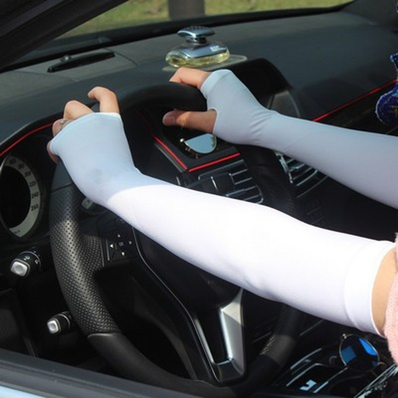 New 1Pair Sun Protection Arm Cooling Sleeve Warmers Cuffs UV Protection Sleeves For Running Outdoor