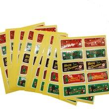 100pcs/pack Christmas Old Man Snowman Elk Cake Packaging Sealing Label Sticker Baking DIY Gift