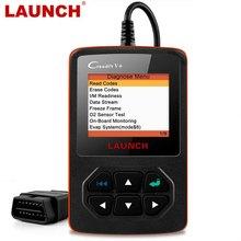 Launch X431 Creader V+OBD OBD2 skaner samochodowy, czytnik kodów błędu, wielojęzyczne menu, narzędzie diagnostyczne auta, auto skanowanie