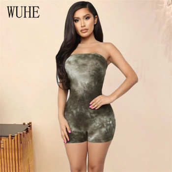 WUHE Women Sleeveless Bodysuit Short Jumpsuit Summer Sexy Rompers Off Shoulder Bodycon Body Suit One Piece Fitness Overalls sleeveless floral jumpsuit women beach playsuits summer one shoulder hollow out overalls casual short jumpsuit sexy bodycon