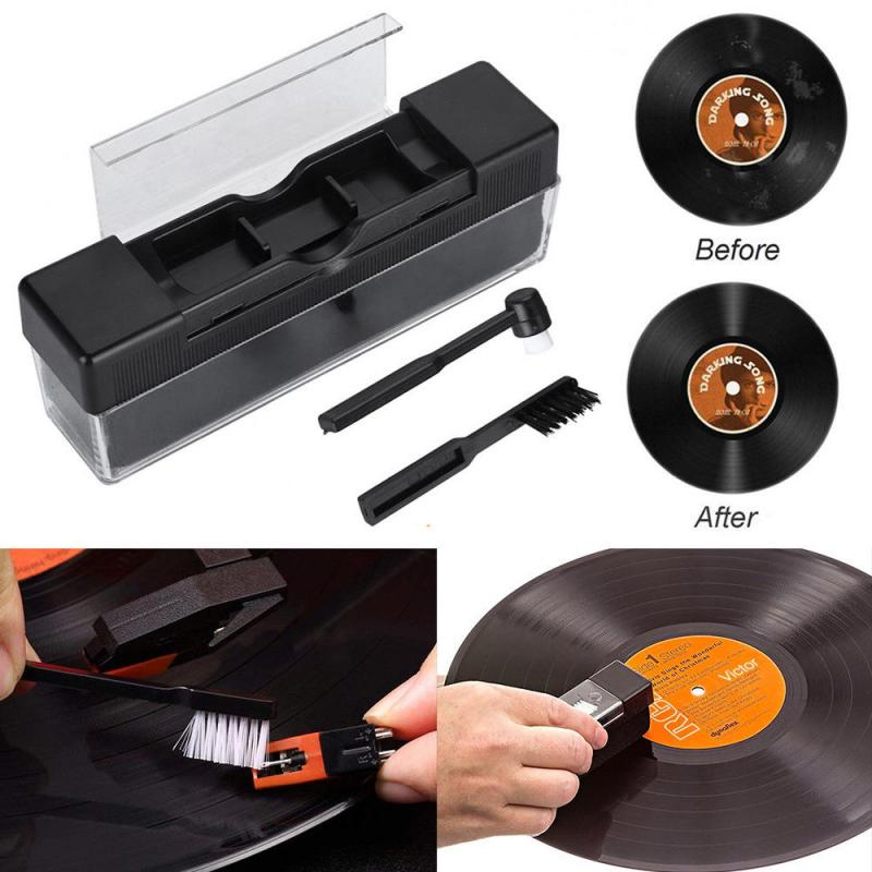 Combination Vinyl Records Cleaning Kit Turntables Cleaning Kit With Small Brush LP Phonograph Record Cleaning Kit 2 In 1
