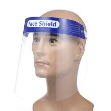 10PCS מלא פנים מסכות נגד טיפות נגד ערפל אבק הוכחה פנים מגן מגן כיסוי שקוף פנים עיני מגן בטיחות מסכה