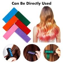 Временная профессиональная краска для волос, 6 цветов, мини мелки для волос, цветные разноцветные волосы, расческа для волос, инструменты для укладки волос, TSLM2