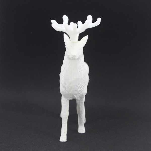 White Deer Xmas Christmas Home Decor Party Ornament Plastic Pendant Reindeer Kid Doll Office Bar Decoration Personality Creative
