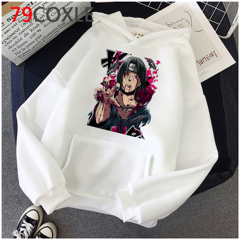 Hot Japanese Anime Hoodies kakashi Akatsuki Graphic Sweatshirts Men Sasuke Streetwear Itachi Cartoon Fashion Tops Unisex Male 4