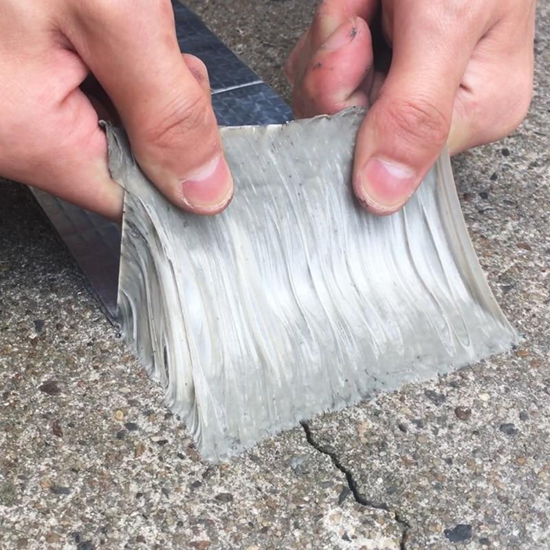 For Roof Pipe Repair Stop Leak Sticker Aluminum Foil Butyl Rubber Tape Self Adhesive High Temperature Resistance Waterproof
