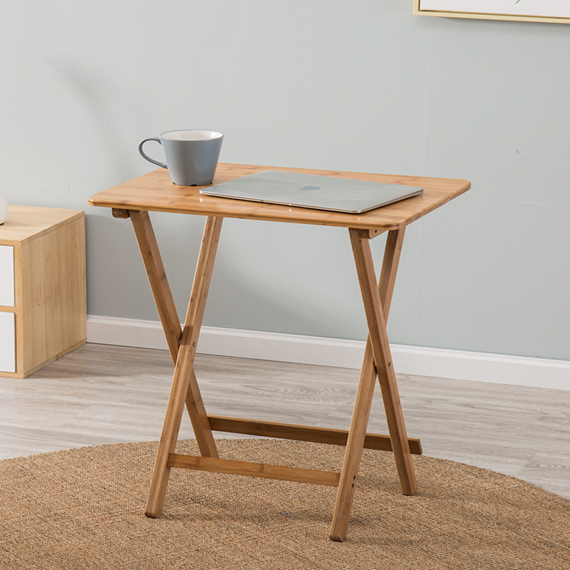 Simple And Simple Tea Table, Portable Dining Table, Laptop Computer, Small Table, Outdoor Solid Wood, Pure Nanzhu