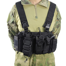 Military Tactical Equipment Vest Airsoft Paintball Combat Lightweight Vest Carrier Strike Chest Rig Pack Pouch CS Hunting Vest цена в Москве и Питере
