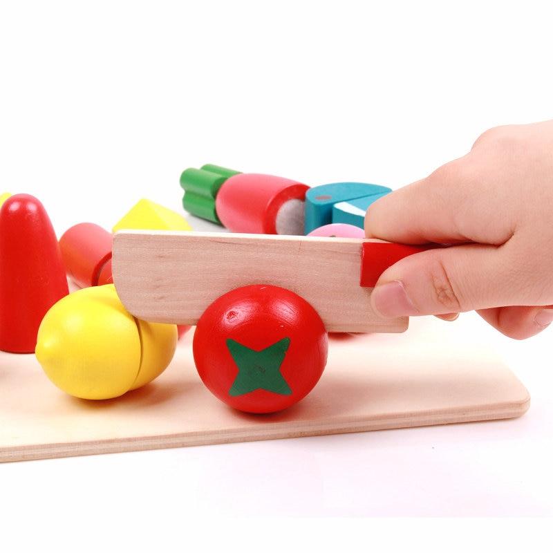 Klasične kuhinjske igrače Lesene simulacije Sadje / Zelenjava - Igra igranja vlog - Fotografija 5