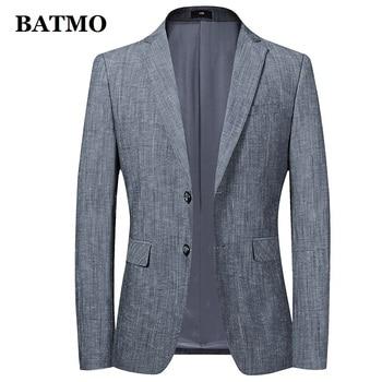 BATMO 2020 new arrival spring cotton casual thin blazer men,men's casual jackets,plus-size M-4XL 111