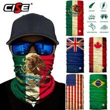 Бесшовная маска для лица с национальным флагом, маска для лица, Байкерский шарф для катания на мотоцикле и лыжах, Солнцезащитный чехол для шеи, Теплая мужская и женская одежда
