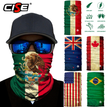 National flag Seamless Magic Balaclava Face Mask Motorcycle Skiing Riding Biker Scarf Neck Cover Sun Cover Warmer Men Women