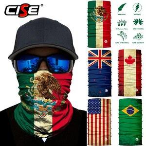 Image 1 - National flag Seamless Magic Balaclava Face Mask Motorcycle Skiing Riding Biker Scarf Neck Cover Sun Cover Warmer Men Women
