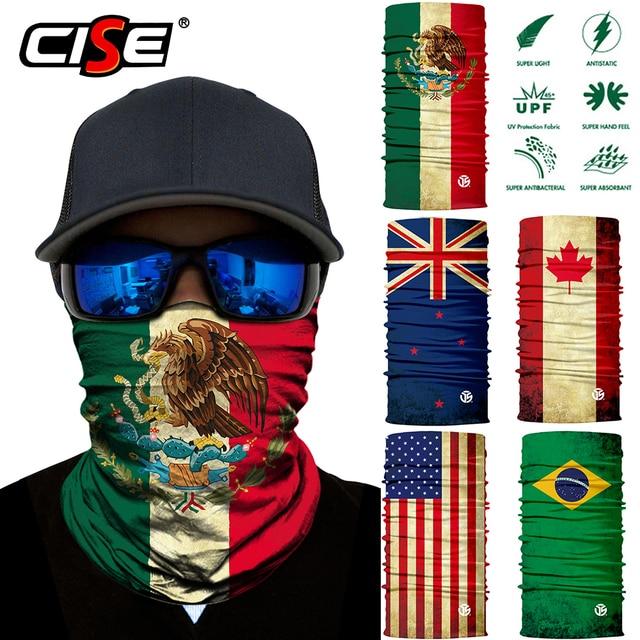 National flag Seamless Magic Balaclava Face Mask Motorcycle Skiing Riding Biker Scarf Neck Cover Sun Cover Warmer Men Women