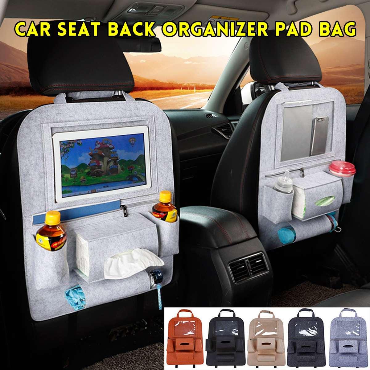 Organizador para banco traseiro de carro, bolsa em feltro para armazenamento multifuncional de veículos e carros, 1 peça acessórios