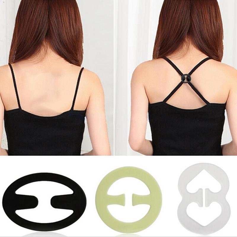 9pcs Wedding Bra Straps Bra Clip Buckles Shadow-Shaped Buckle Conceal Clear Cleavage Bra Extender Holders Accessories image