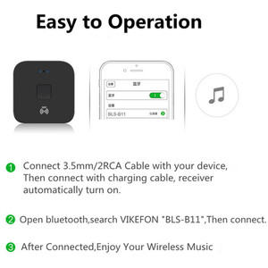 Image 5 - Receptor de Audio con Bluetooth 5,0, adaptador de música inalámbrico estéreo Aux para altavoz de coche, RCA, 3,5mm, NFC