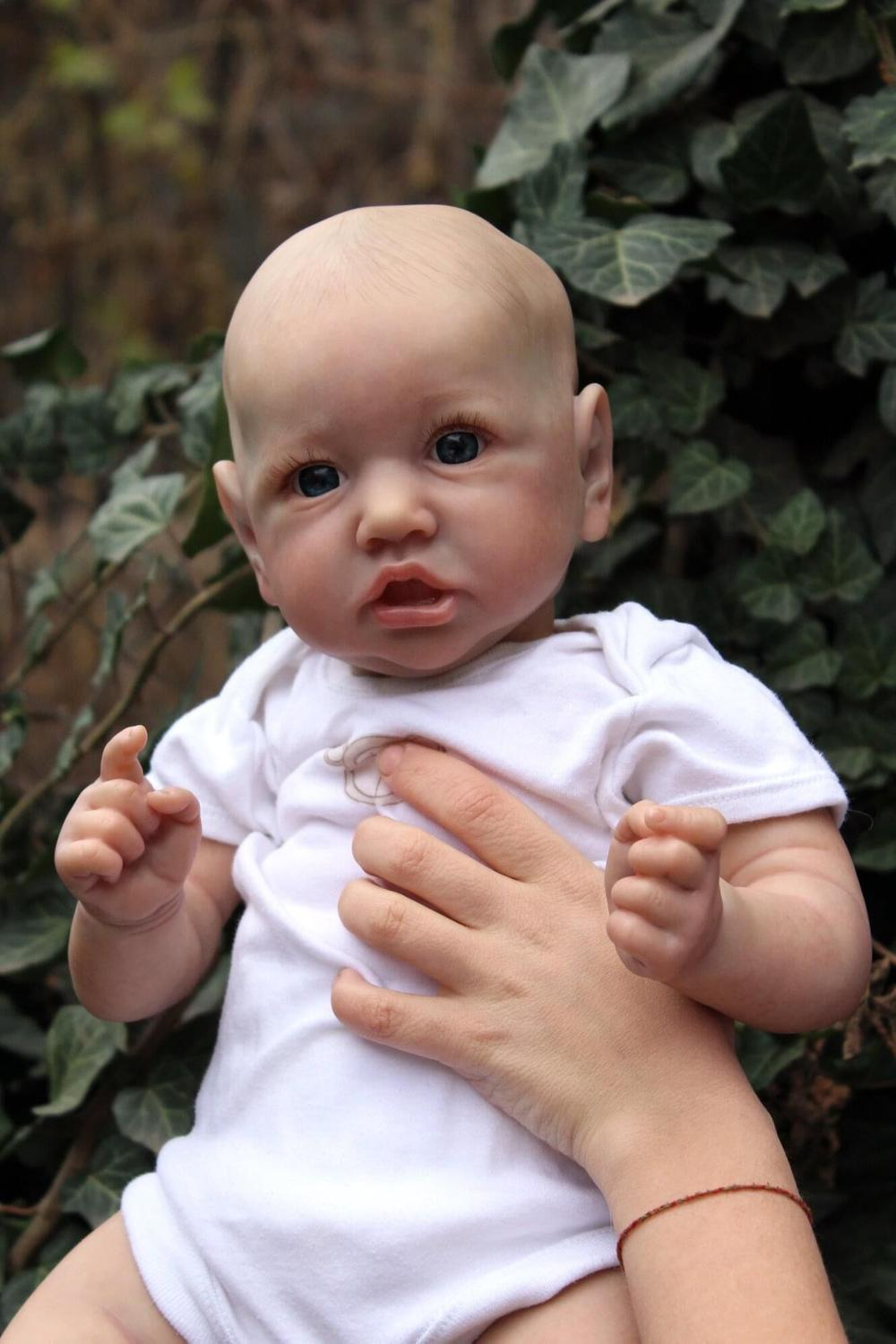 NPK 55CM silicone saskia newborn baby reborn doll lifelike detailed hand painting real soft touch collectible