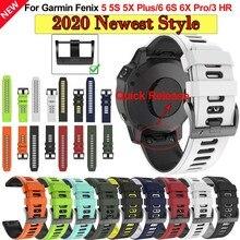 26 22 20mmWatchBand ремешки для часов Garmin Fenix 6 6S 6X Pro 5X 5 5S 3HR 935, быстросъемный силиконовый легко регулируемый браслет Correa