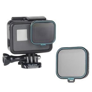 Image 4 - Комплект фильтров TELESIN 4 шт, протектор объектива ND CPL Fiter ND4 ND8 ND16 CPL Для Gopro Hero 5 6 7 Black Hero 7, аксессуары для камеры