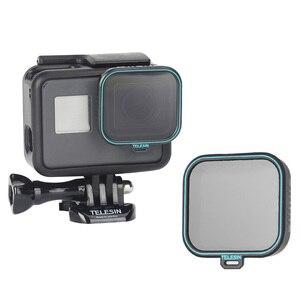Image 4 - Telesin 4 Gói Fiter Bộ ND Bảo Vệ Ống Kính (ND4 8 16) + Kính Lọc CPL Cho Gopro Hero 5 6 Và 7 Đen Anh Hùng 7 Camera Accessoreis