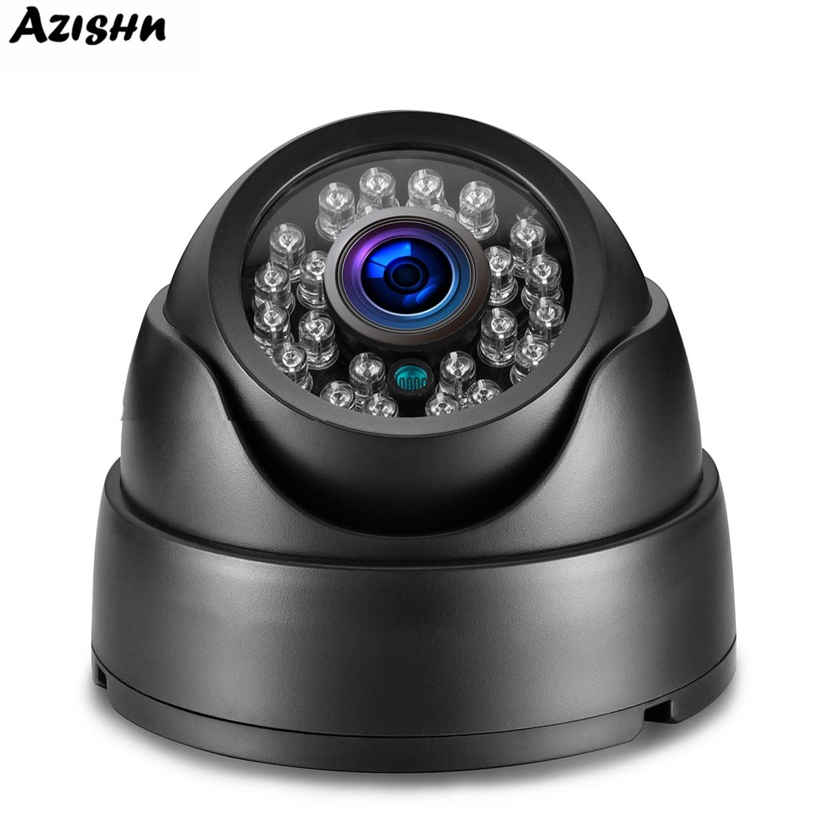 AZISHN 5MP 1080P 720P AHD Camera IR LED 25 Meter IR Distance Black Indoor CCTV Dome Security Full HD Home Surveillance Camera