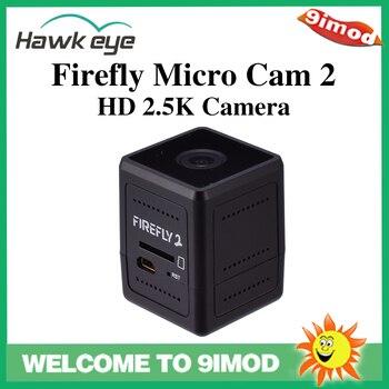 цена на Hawkeye Firefly Micro Action Cam 2 Mini FPV Camera HD 2.5K Waterproof Diagonal 160 Degree for RC Racing Drone Aerial Photography