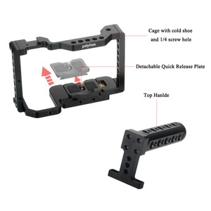 Image 3 - Andoer Camera Cage Video Stabilizer with Detachable Quick Release Plate Cold Shoe Mount for Sony A6500/A6400/A6300/NEX7 Camera