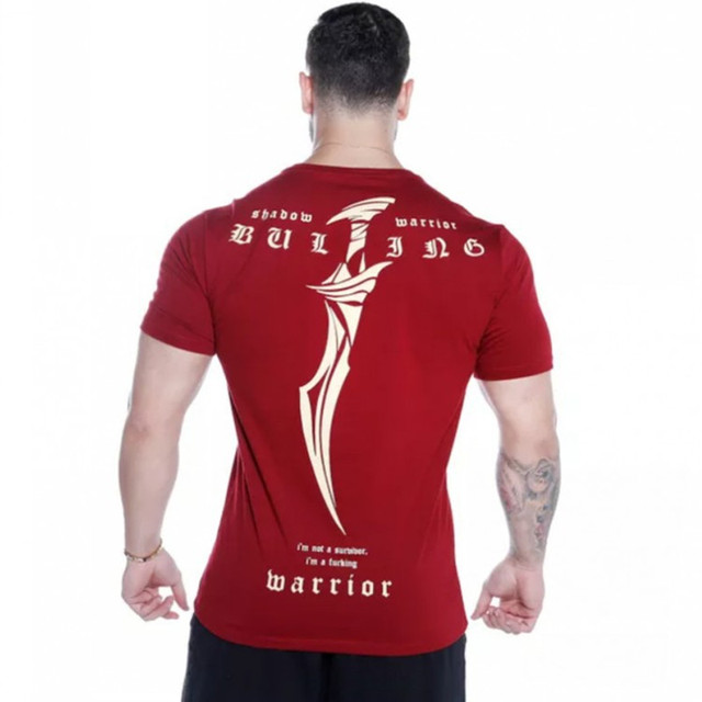 New Men cotton T-shirt Joggers Sporting short sleeve Tees Shirt Male Gyms Fitness Bodybuilding Male CasuaTees Tops Clothing
