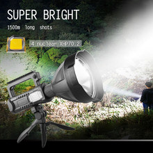 Powerful 30000 lumens XHP70.2 flashlight USB Charging torch super bright LED searchlight waterproof camping lantern rechargeable