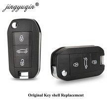 Carcasa de llave a distancia HU83 de 3 botones para Peugeot 508 208 2008 308 3008 5008 Citroen C3 C4 C4L Elysee, repuesto de funda de mando a distancia Original