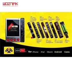 W28 batería Universal LCD pantalla Cable probador caja para iPhone 11Pro Android iWatch ipad línea de datos auriculares Cable de carga prueba