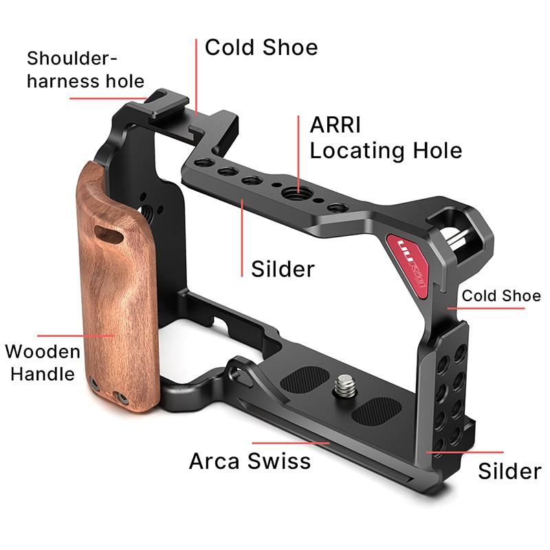 UURig метална клетка за камера за Sony A6300 - Камера и снимка - Снимка 1