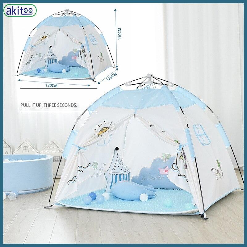 Akitoo nouvelle tente pour enfants jouer maison jouet intérieur et extérieur bébé princesse château en plein air camping pliant maison de jeu #165