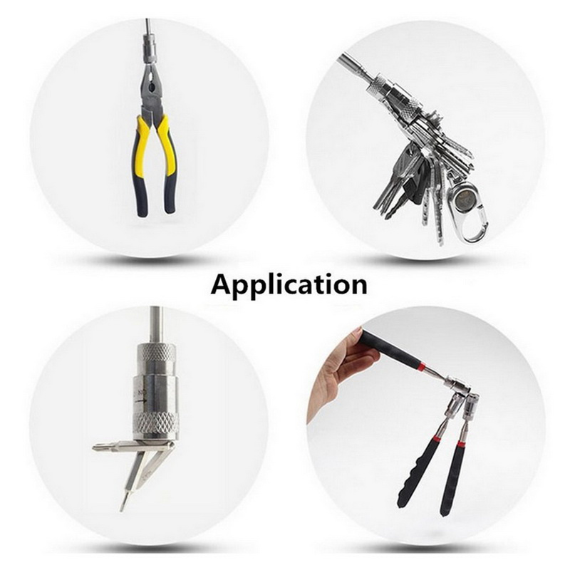 Telescopic Adjustable Magnetic Pick-Up Tools Expandable Long Reach Pin Tool for Picking Up Nuts